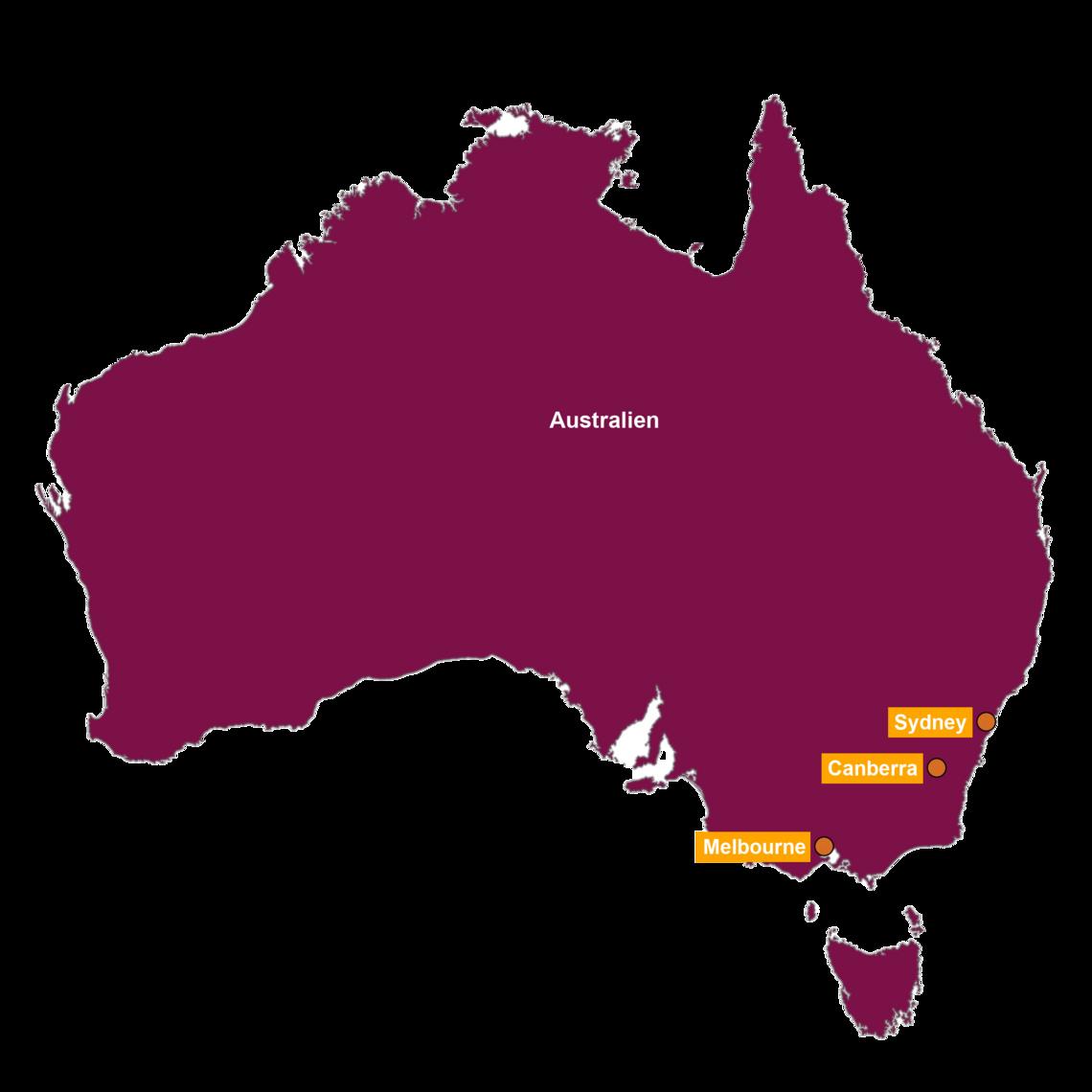 Karte Australien Englisch.Unsere Australien Reisen Miller Reisen