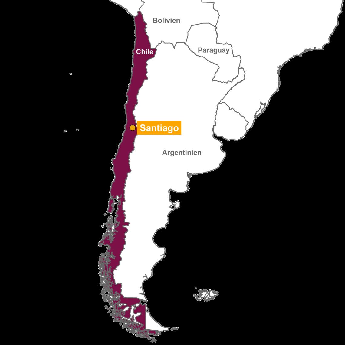 Atacama Wüste Karte.Ihre Chile Reise Von Der Atacama Wüste Bis Nach Patagonien