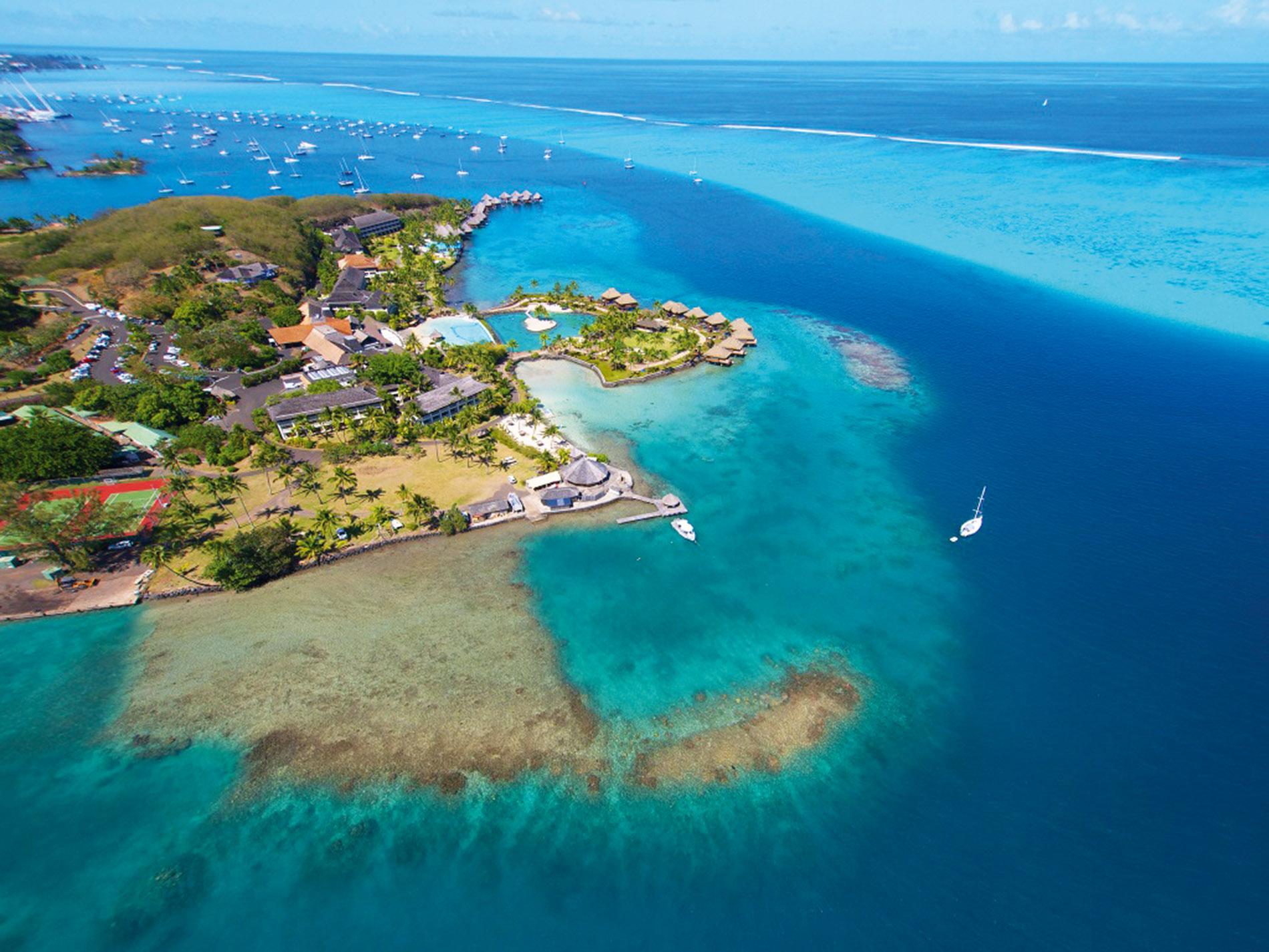 Stadt Auf Tahiti
